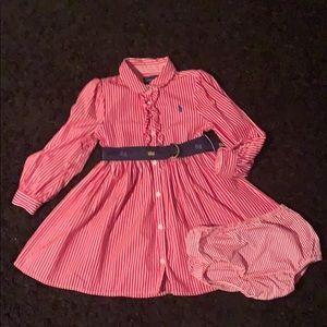 Ralph Lauren button up dress. size 24 months